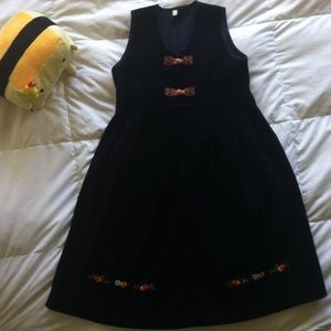 Authentic Korean girl wood button closure dress